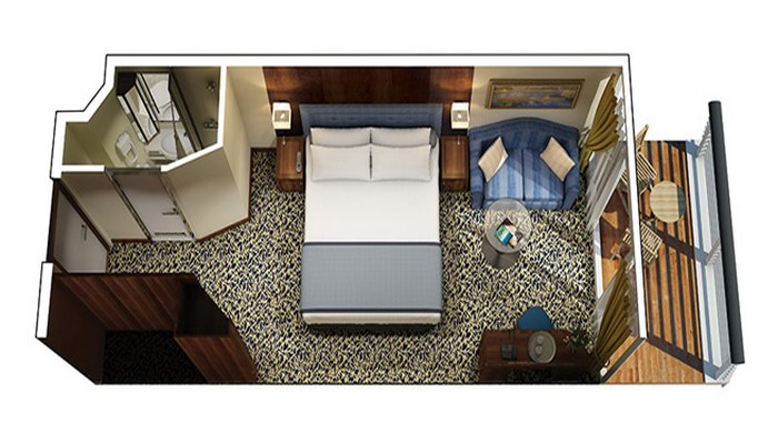 Cabine Véranda niveau Concierge - A3