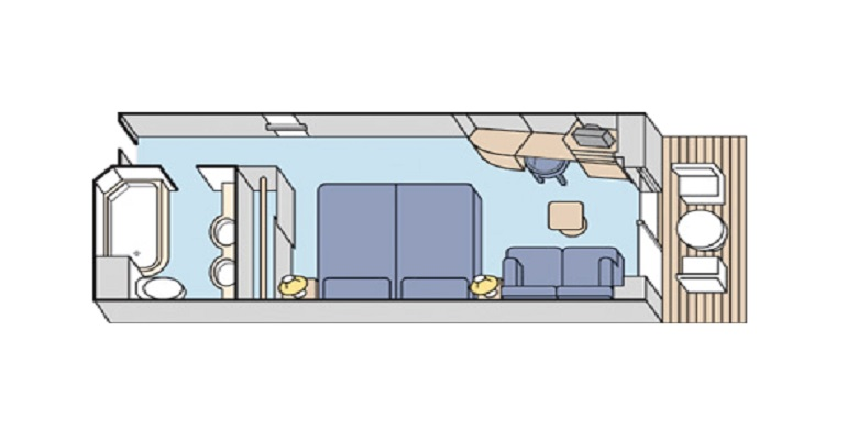 Cabine deluxe avec balcon - A2