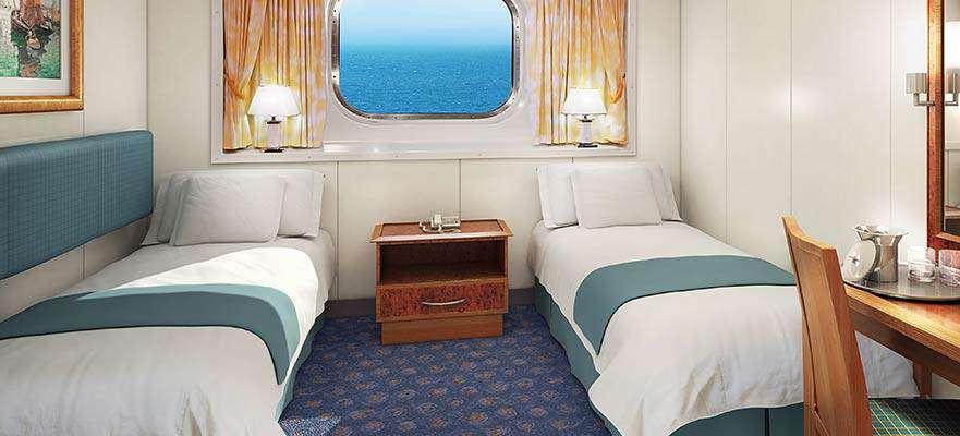 Cabine vue mer familiale avec baie vitrée ( au milieu ) - OA