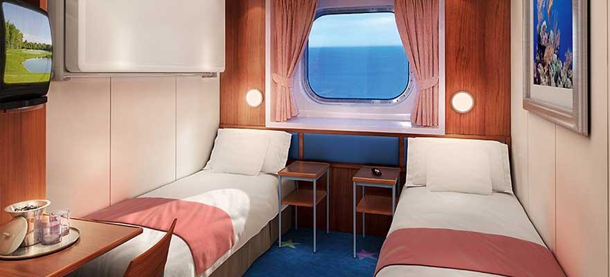 Cabine vue mer familiale avec baie vitrée - OA