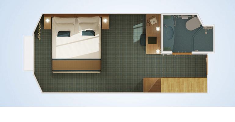 Cabine intérieure avec fenétre / vue réduite - 4J