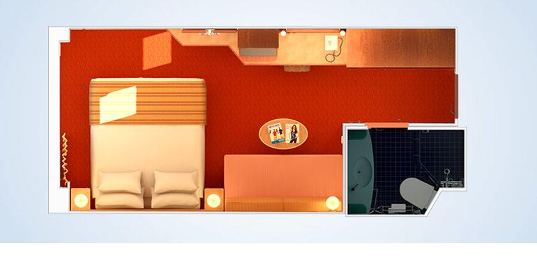 Cabine intérieure avec fenêtre à la francaise / vue réduite - 4K