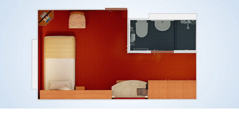 Cabine intérieure avec lits superposé - 1A