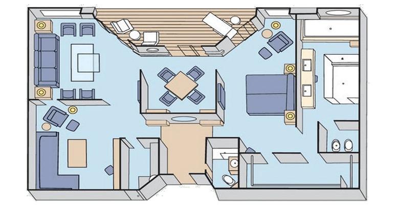 Crystal Penthouse avec balcon - CP
