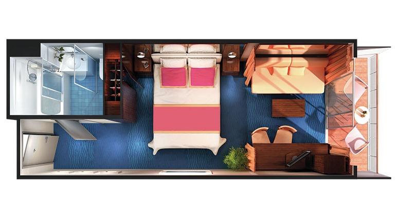 Mini Suite Balcon (à l'arrière) - M1