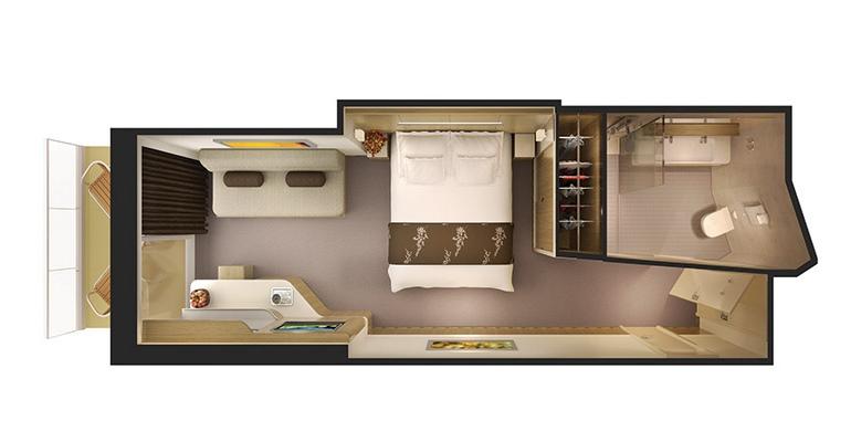 Mini Suite Balcon (au milieu) - M6