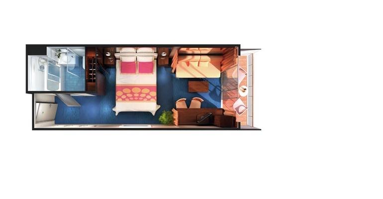 Mini Suite Balcon (au milieu) - MA
