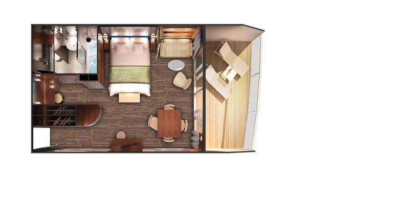 Suite Penthouse avec grand Balcon (à l'arrière) - SF