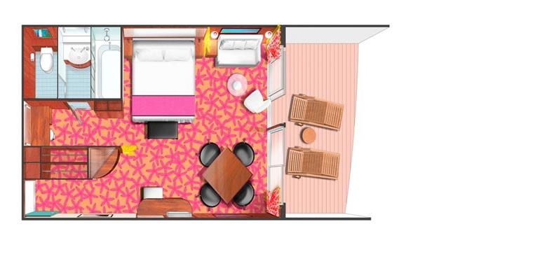 Suite Penthouse Balcon (à l'arrière) - SF