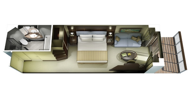 Veranda Stateroom - B1