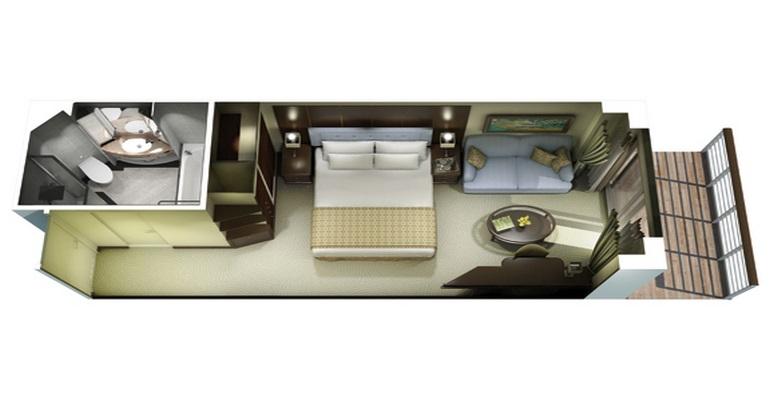 Veranda Stateroom - B4