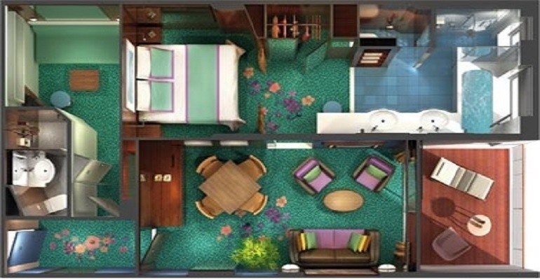 Cabine Garden Villa 3 chambres The Haven - H1
