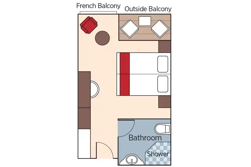 Cabine Balcon - A