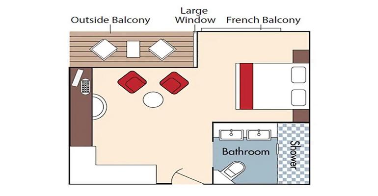 Cabine Balcon - AA+