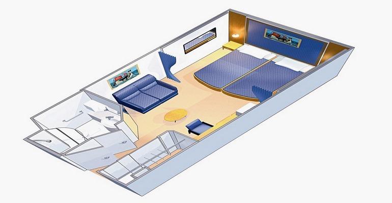 Cabine Intérieure avec Balcon virtuel - 4U