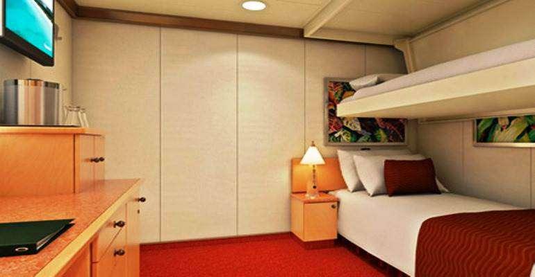 Cabine Intérieure lits superposés - 1A