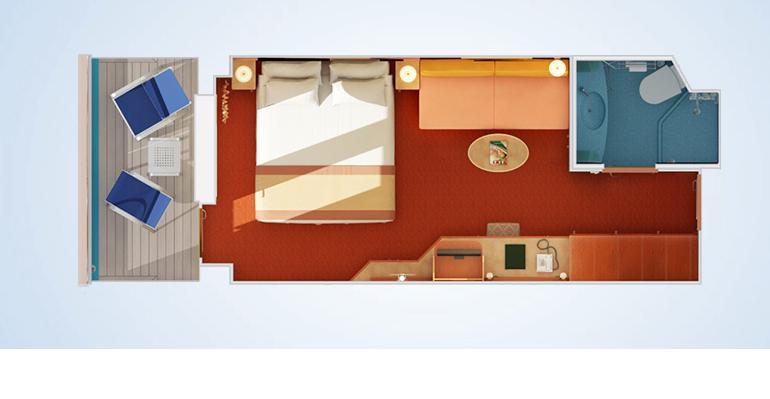 Cabine avec Grand Balcon - 8M