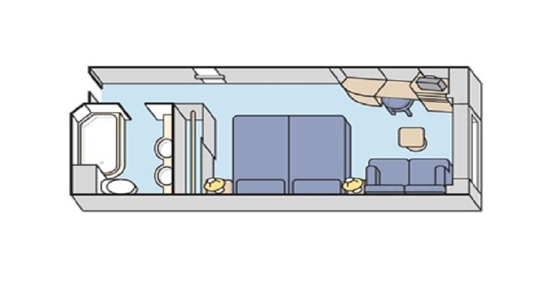 Deluxe avec Fenêtre obstruée - E2