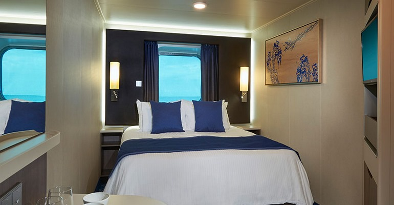 Cabine vue mer avec grande baie vitrée - OB