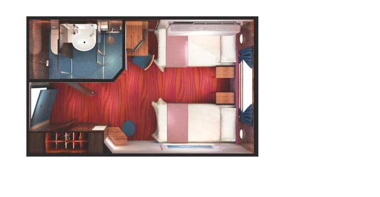 Cabine vue mer grande baie vitrée - OA