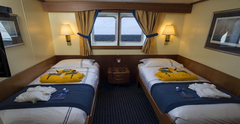 Cabine vue mer avec Fenêtre