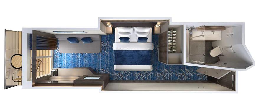 Mini Suite Balcon (au milieu) - MB
