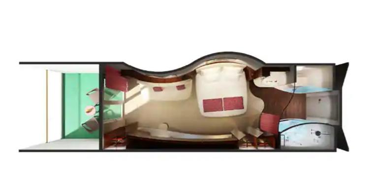 Mini Suite Balcon (au milieu) - MC