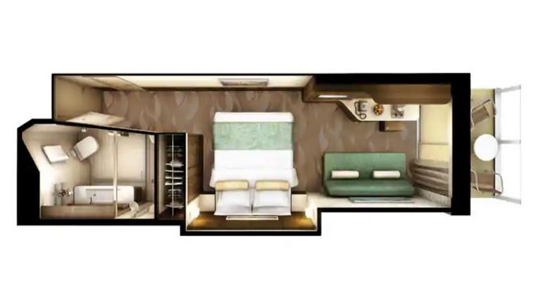 Mini Suite Familiale avec Balcon – M2