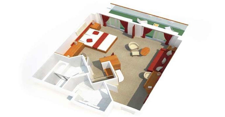 Penthouse avec Balcon - A1