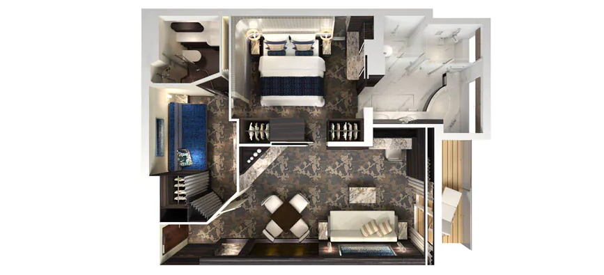 The Haven 2 Chambres Familiale Villa avec Balcon - H4