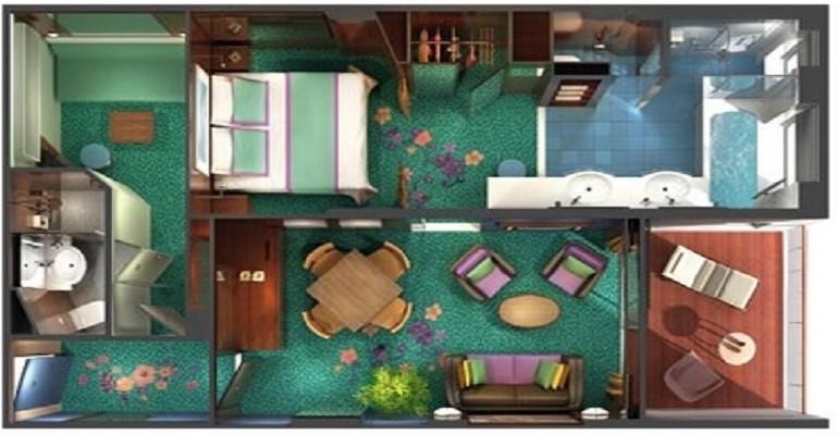 The Haven Cabine 2 Chambres Familiale Villa avec balcon - H4