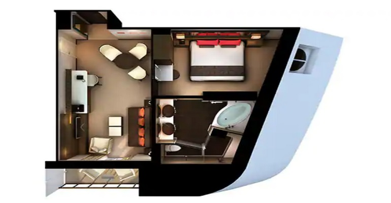 The Haven Penthouse Suite (à l'avant) avec Balcon - H7