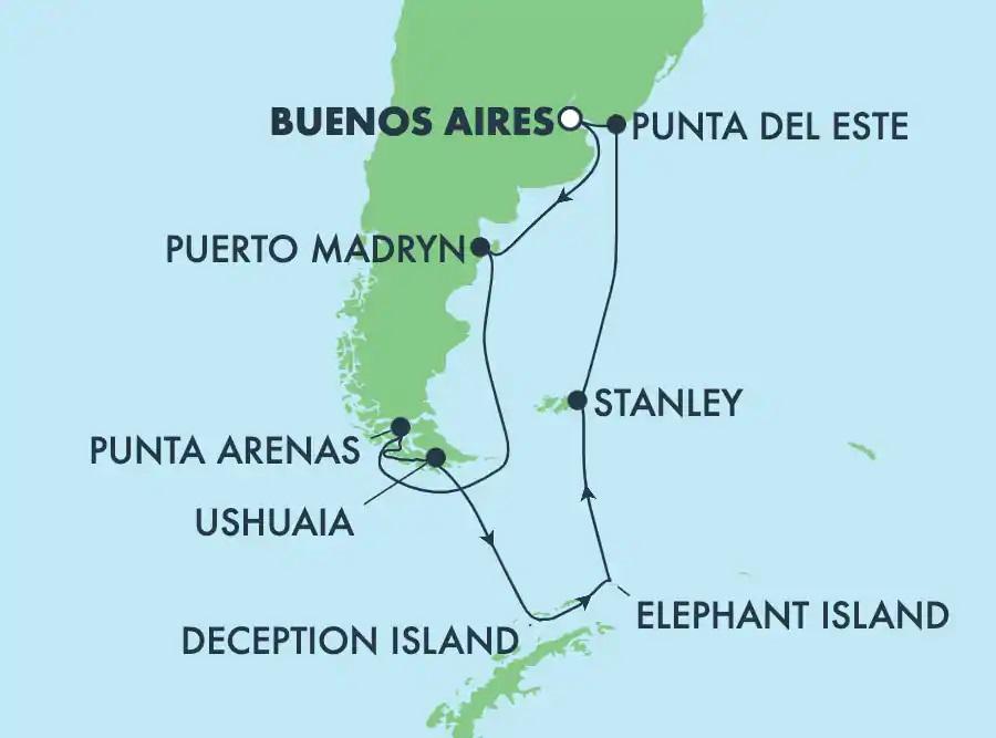 Antarctique et Amérique du Sud
