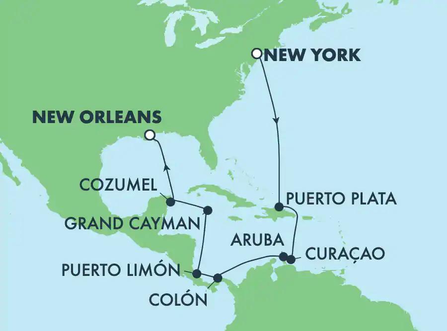 Caraïbes de New-York à la Nouvelle-Orléans