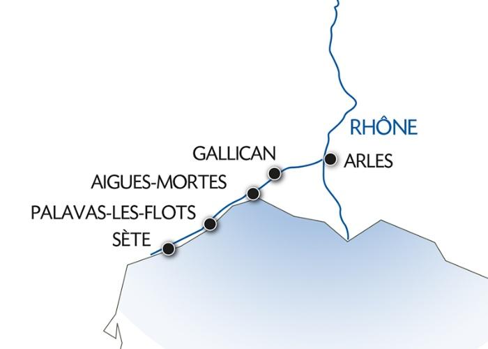 Croisière de Sète à Arles