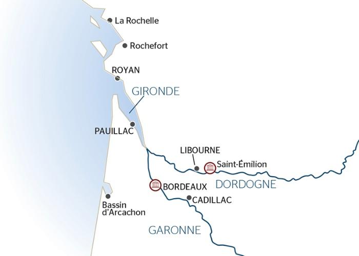 Croisière en Aquitaine de Bordeaux à Royan
