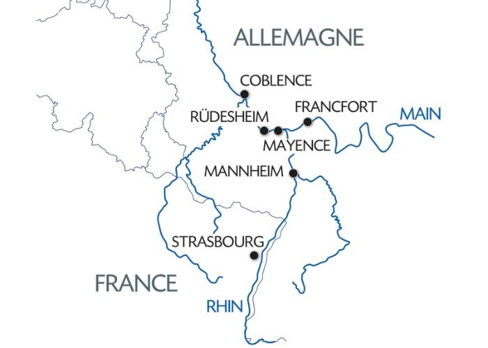 3 Fleuves : le Rhin, la Moselle et le Main