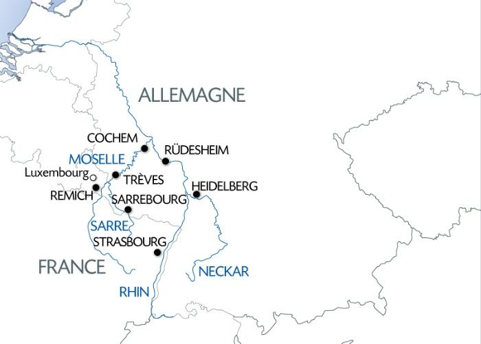 4 Fleuves : les Vallees, Moselle, Sarre, Rhin
