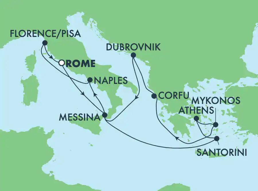 Iles Grecques au départ de Rome