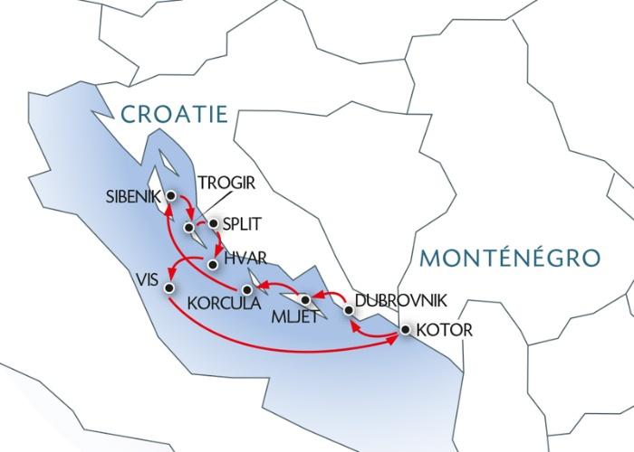 La Croatie et le Montenegro