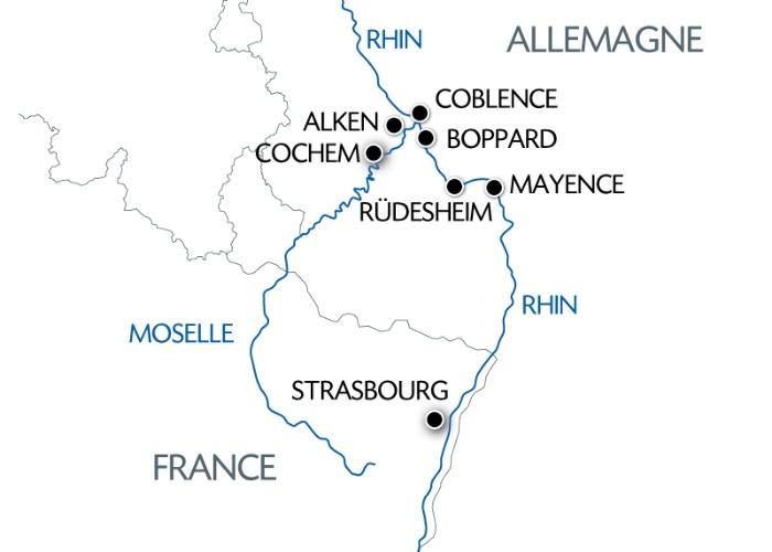 La Moselle et la vallée du Rhin romantique