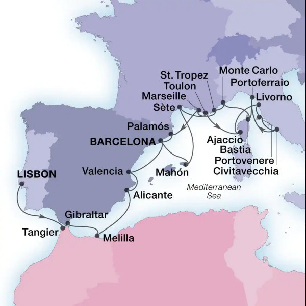 Lisbonne - Barcelone
