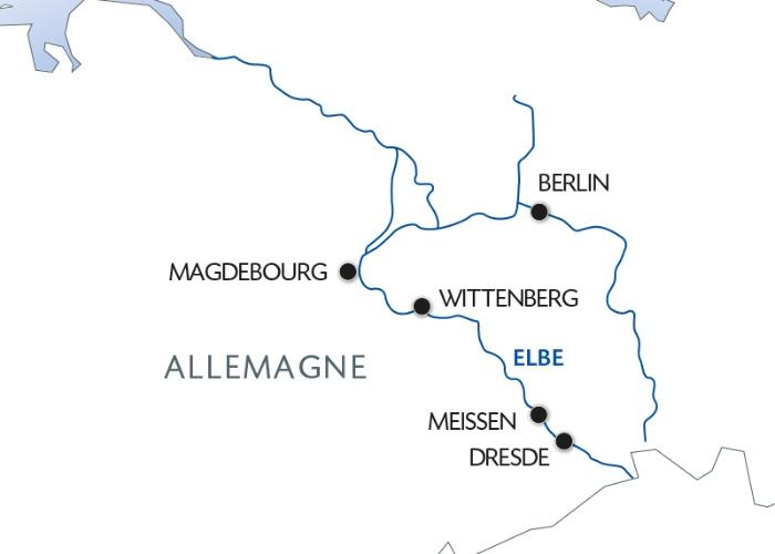 Nouvel An sur l'Elbe de Dresde à Berlin