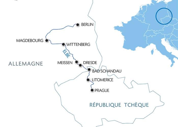 Prague à Berlin : Croisière sur la Moldau et l'Elbe
