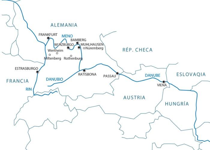 Reliez le Danube au Rhin