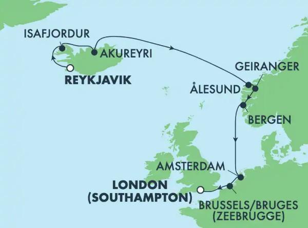 Reykjavík - Southampton (Londres)