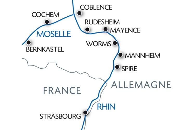 Vallée du Rhin et la Moselle Pittoresque