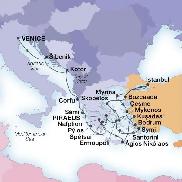 Venise - Le Pirée (Athènes)
