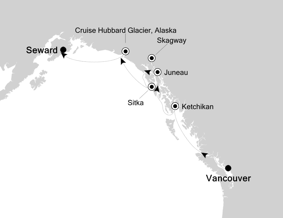 Vancouver - Seward (Anchorage)