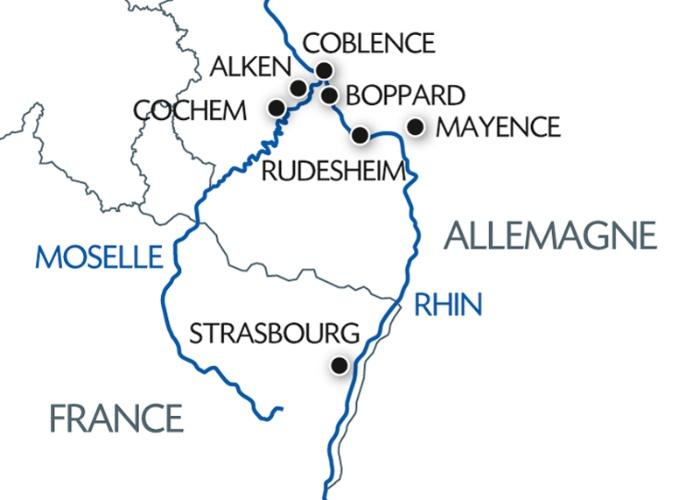 2 fleuves : la Moselle et la vallée de Rhin